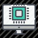 monitor, settings, chip, processor, computer, pc, microchip