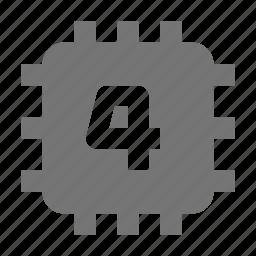 chip, computer, core icon