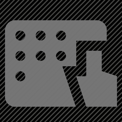 cursor, dial icon