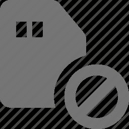block, sd card, stop icon