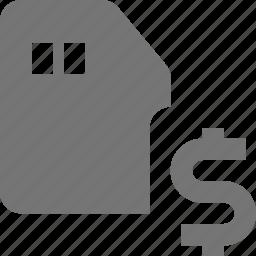 dollar, money, sd card icon