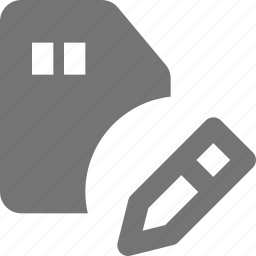 card, edit, sd icon