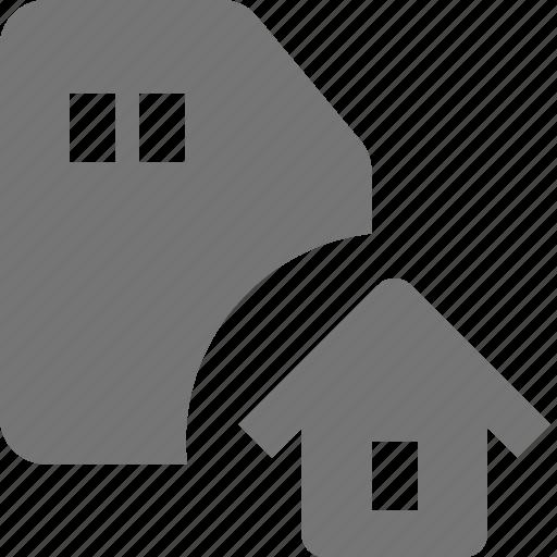 home, house, sd card icon