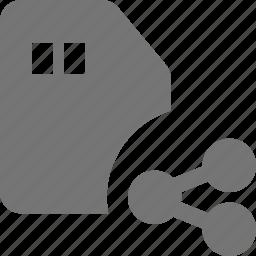 sd card, share icon
