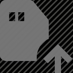 arrow, card, sd card, up, upload icon
