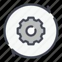 cog, cogwheel, gear, refresh, settings, technology, update icon