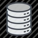 archive, base, data, database, server, storage, technology icon