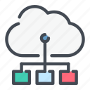 cloud, connect, connection, link, service, structure, technology icon