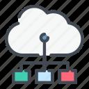 cloud, connect, connection, link, service, structure, technology