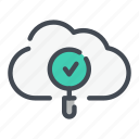 check, cloud, find, search, service, technology, tick