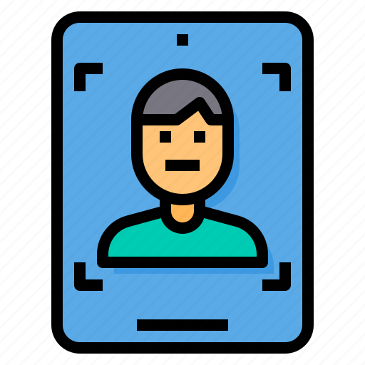 cloud, computer, detection, face, security, server, technology icon