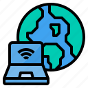 cloud, computer, internet, security, server, web, world icon
