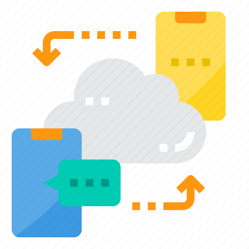 chat, cloud, computer, computing, security, server, technology icon