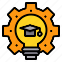 education, engineer, learning, school, student, study icon