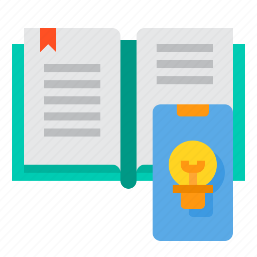 book, education, learning, school, smartphone, student, study icon