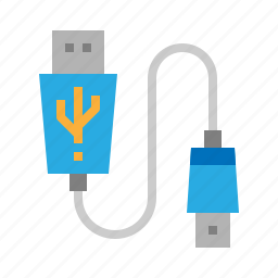 cable, connector, stick, usb icon