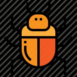 bug, computer, database, virus icon