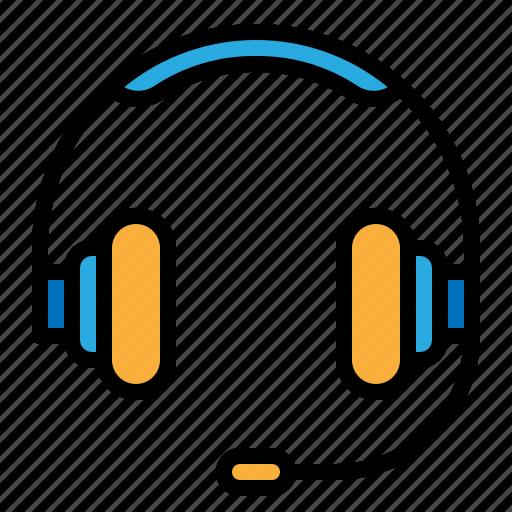 earphone, headphone, headset, service icon