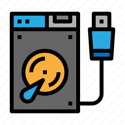 disk, drive, external, hard icon