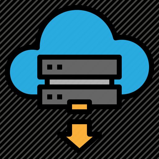 cloud, download, online, server icon