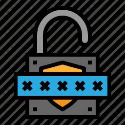 lock, password, secure, unlock icon