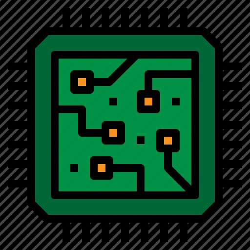 cpu, hardware, microchip, processor icon