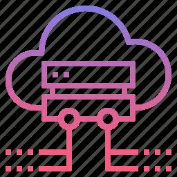 backup, cloud, data, server icon