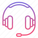 earphone, headphone, headset, service icon