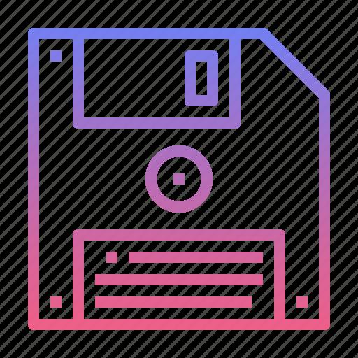 disk, floppy, memory, storage icon