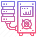 backup, data, mainframe, server icon
