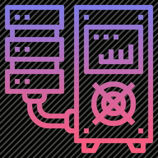 backup, data, mainframe, server icon