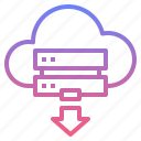cloud, download, online, server icon