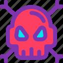 bone, computer, pirate, skull, virus