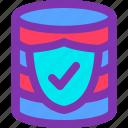database, internet, protection, safe, storage, website icon