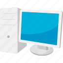 computer, desktop computer, monitor icon