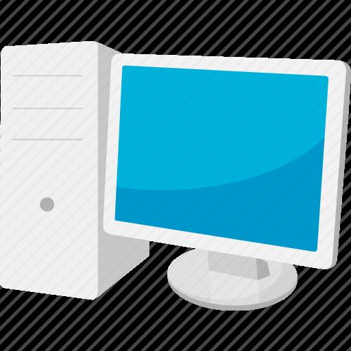 computer, desktop computer, monitor icon
