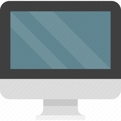 computer, desktop, display, monitor, screen, technology icon