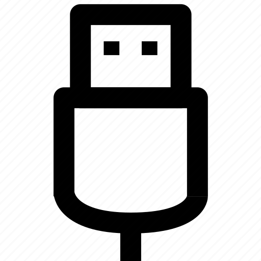 connection, data, usb icon