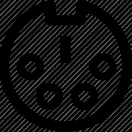 cable, computer, data, port icon