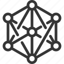 big data, computer, computing, file, geometric, multimedia, storage icon