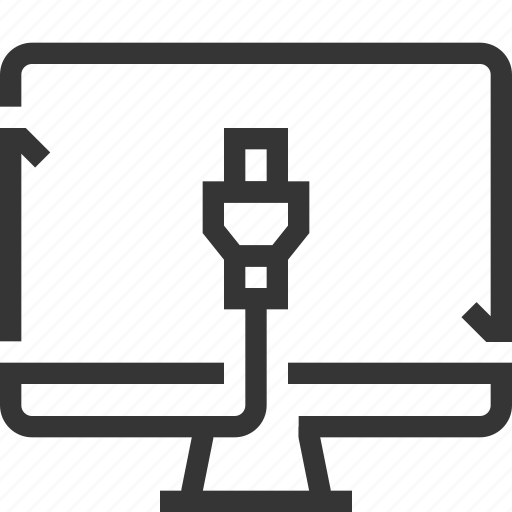 cable, computer, connection, internet, share, socket, syncronization icon
