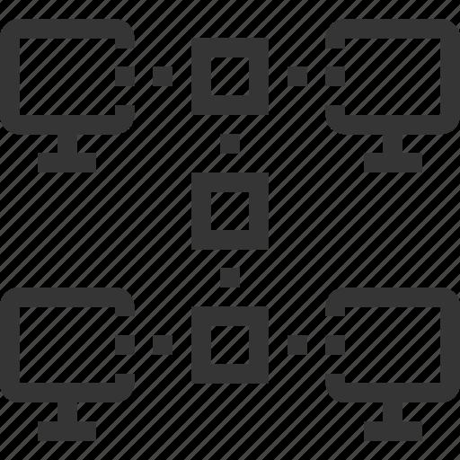 computer, file, folder, internet, network, office, share icon