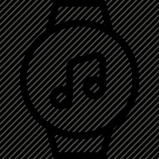 circle, computer, device, electronics, music, smart, timepiece icon
