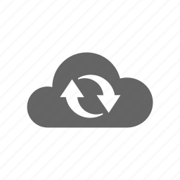cloud, computer cloud, reload, server, store, sync, synchronize, update icon