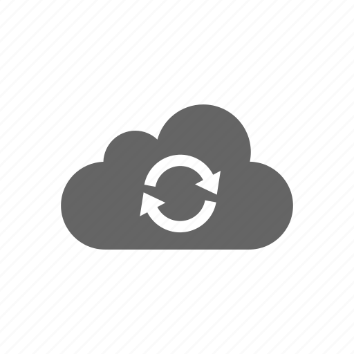 Computer cloud, reload, update, server, synchronize, cloud, store icon