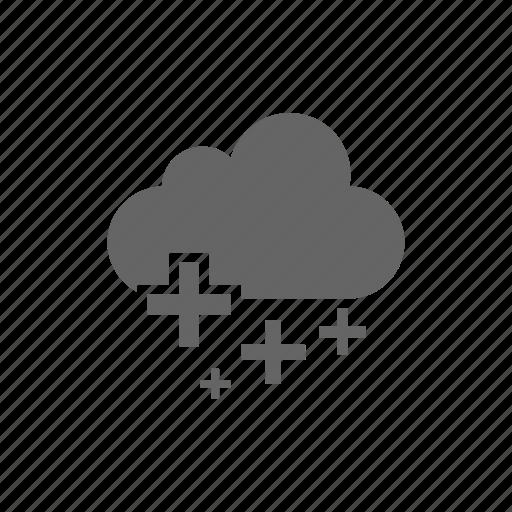 add, cloud, computer cloud, plus, server, store icon
