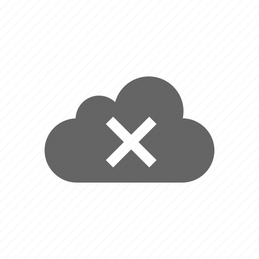 cloud, computer cloud, delete, remove, server, store icon