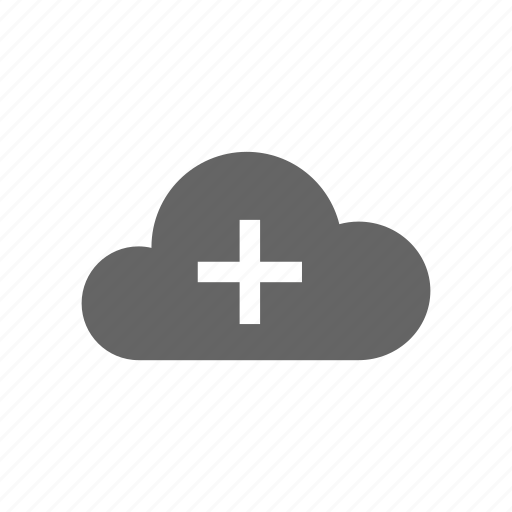 add, cloud, computer cloud, server, store icon