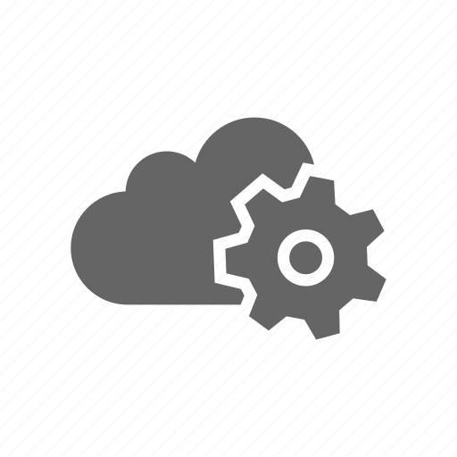 adjustment, cloud, computer cloud, server, settings, store icon