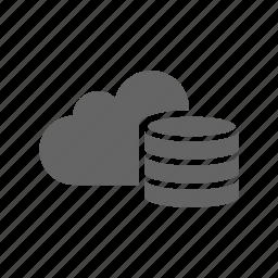 cloud, computer cloud, server, store icon